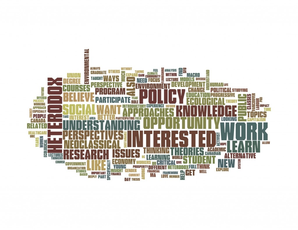 Word cloud PEF Summer School 2014